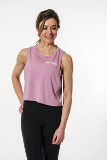 Belle x lululemon Cut Back Crop Tank