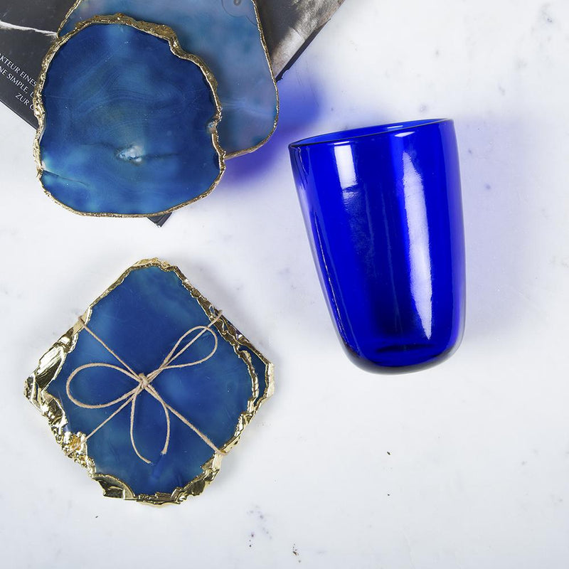 Blue quartz coaster