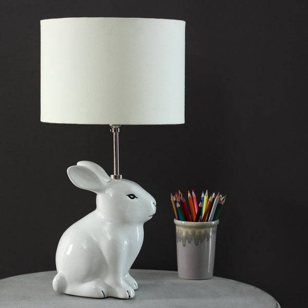 Snow ball rabbit lamp