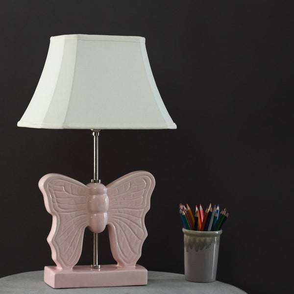 Pink winger butterfly lamp
