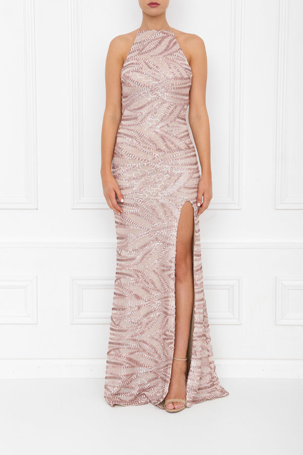 HARLEY SEQUIN MAXI ROSE PINK FRONT 7X0A8433