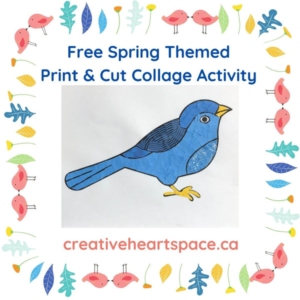 Spring Themed Print & Cut Activity