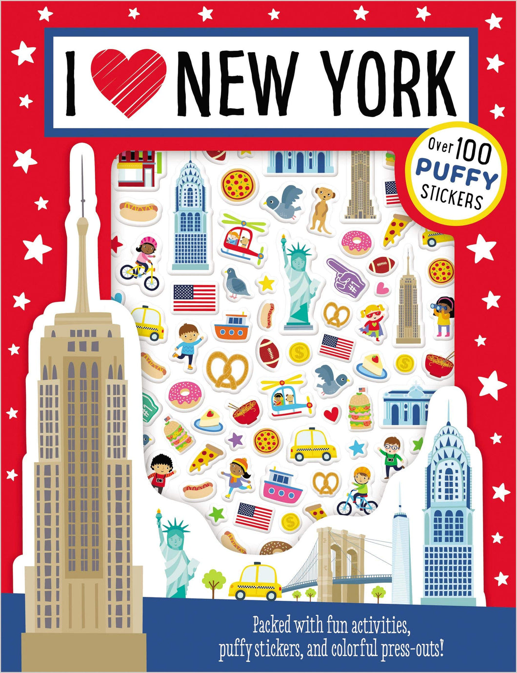 I Love New York Puffy Stickers