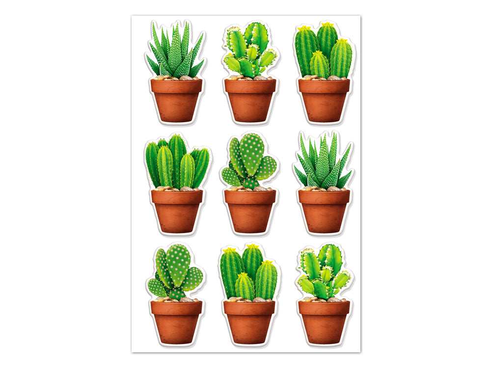 Paper Craft Sticker (Succulents)