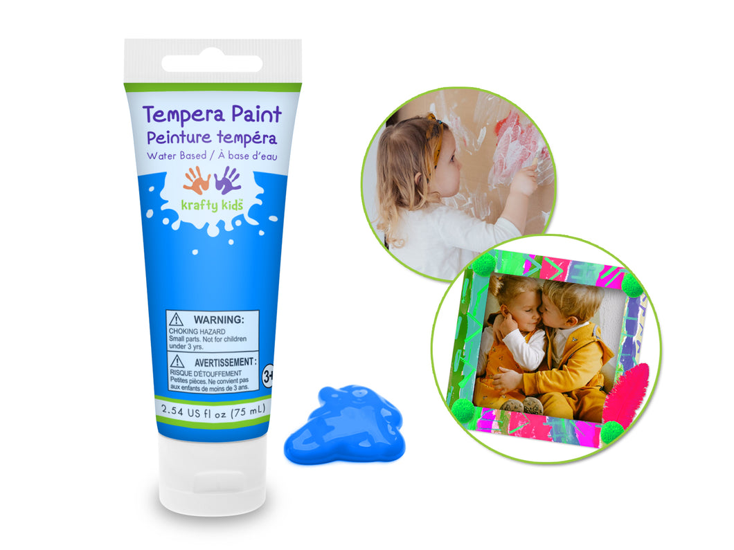 Kids Liquid Tempra Paint Tube - Neon Blue