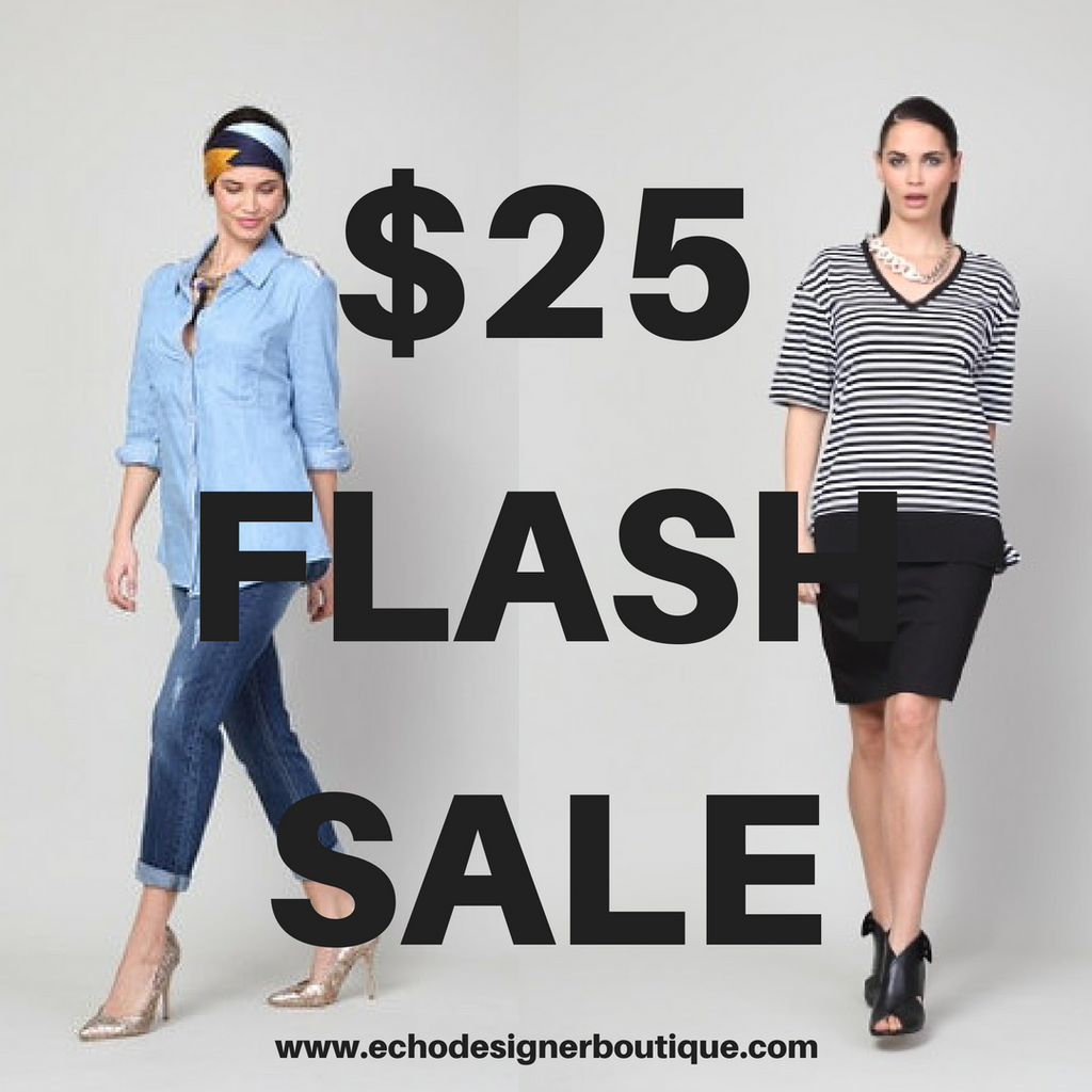 $25 FLASH SALE in store and online