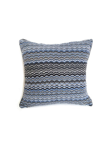 Sabatini Blue Wave Knit Cushion