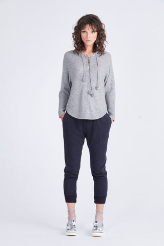 Madly Sweetly Seeded Hood Sweater Grey Marl (L)