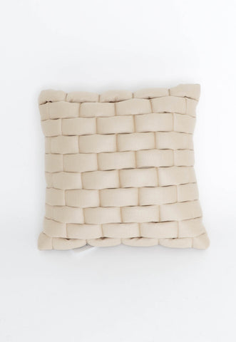 Sabatini Vanilla Textured Knit Cushion