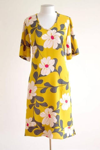 Bittermoon Claudia Dress Mustard (8, 10)