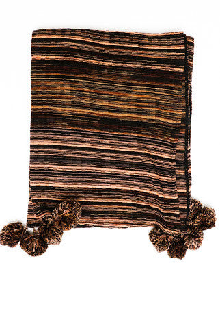 Sabatini Copper Knit Throw