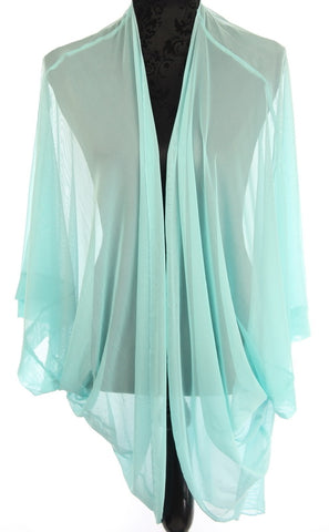 Plain Sheer Shrug Cape (One Size)