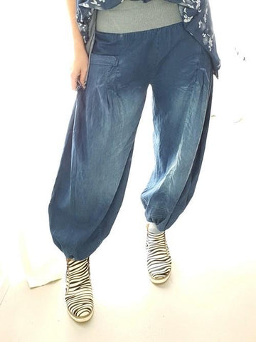 Helga May Dark Denim Harem Jeans (O/S)