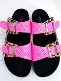 Helga May Pink Alma Leather Sandal (37, 38, 39, 40, 41)
