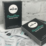 MINX Clean & Shine Shoe Wipes 10 Pack