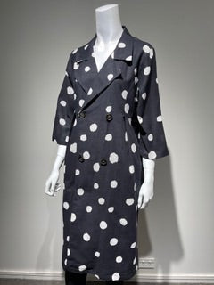 GLAM Linen Cotton Spot Coat (S, M, L, XL) #2201
