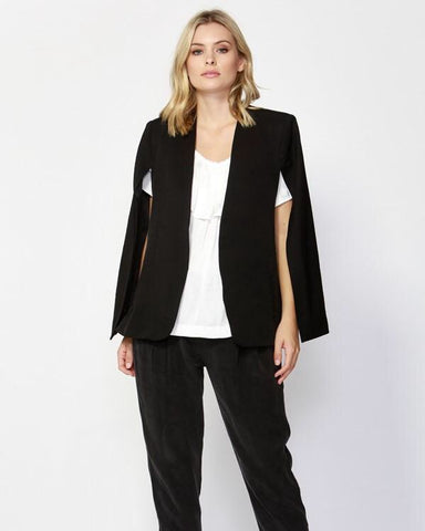 FATE + BECKER Uptown Cape Blazer Black and Navy (XS - XL) SALE