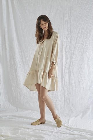 Sabatini Oversized Linen Smock Dress (S/M)