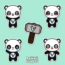Load image into Gallery viewer, Vechain Panda 5 Sticker Pack