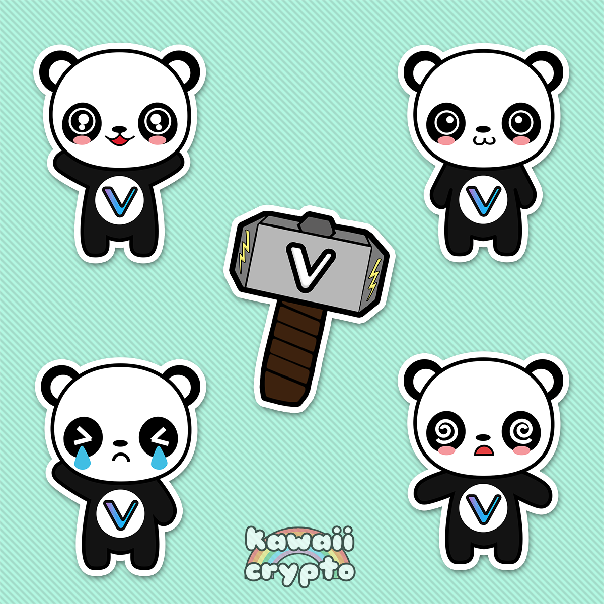 Vechain Panda 5 Sticker Pack