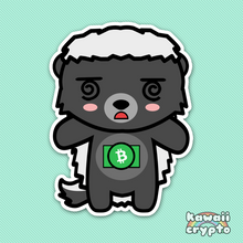 Load image into Gallery viewer, Bitcoin Cash Honey Badger 5 Sticker Pack