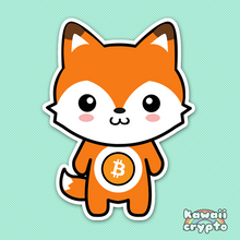 Load image into Gallery viewer, Bitcoin Fox 5 Sticker Pack