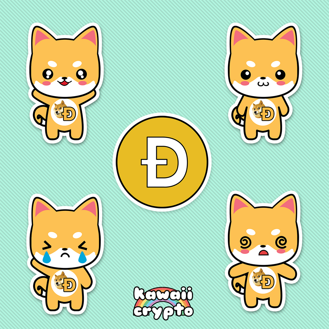 Dogecoin Doge 5 Sticker Pack