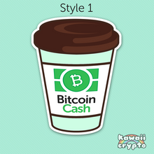 Load image into Gallery viewer, Bitcoin Cash Coffee Stickers