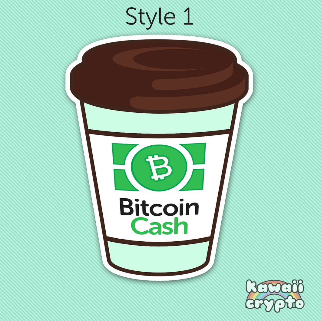 Bitcoin Cash Coffee Stickers