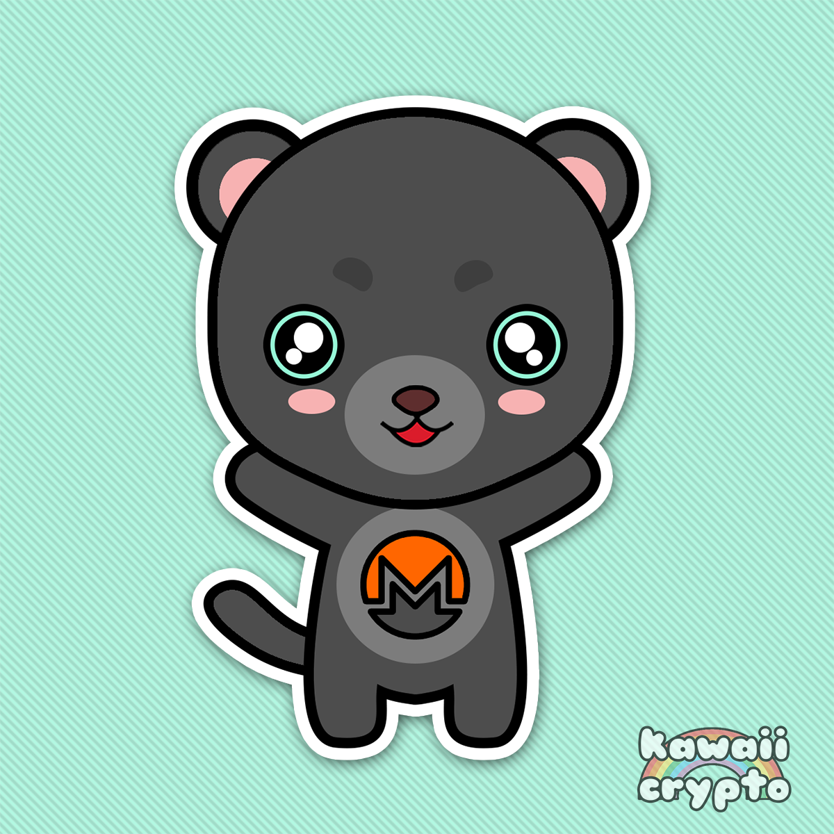 Monero Panther 5 Sticker Pack