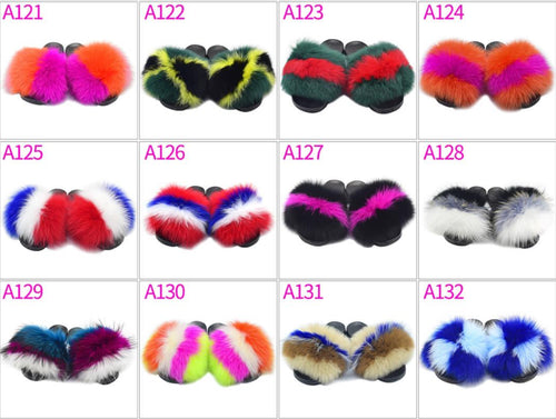 Rose Big Fur Slides - ElectraMuscle