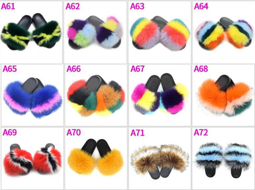 Butterfly Regular Fur Slides - ElectraMuscle