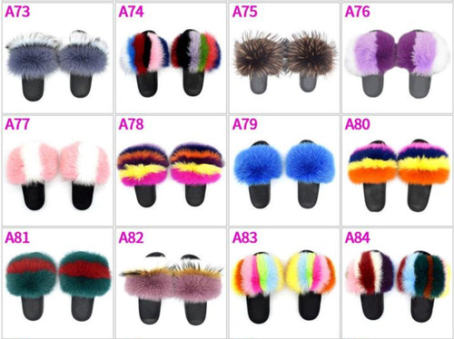 Daisy Regular Fur Slides - ElectraMuscle