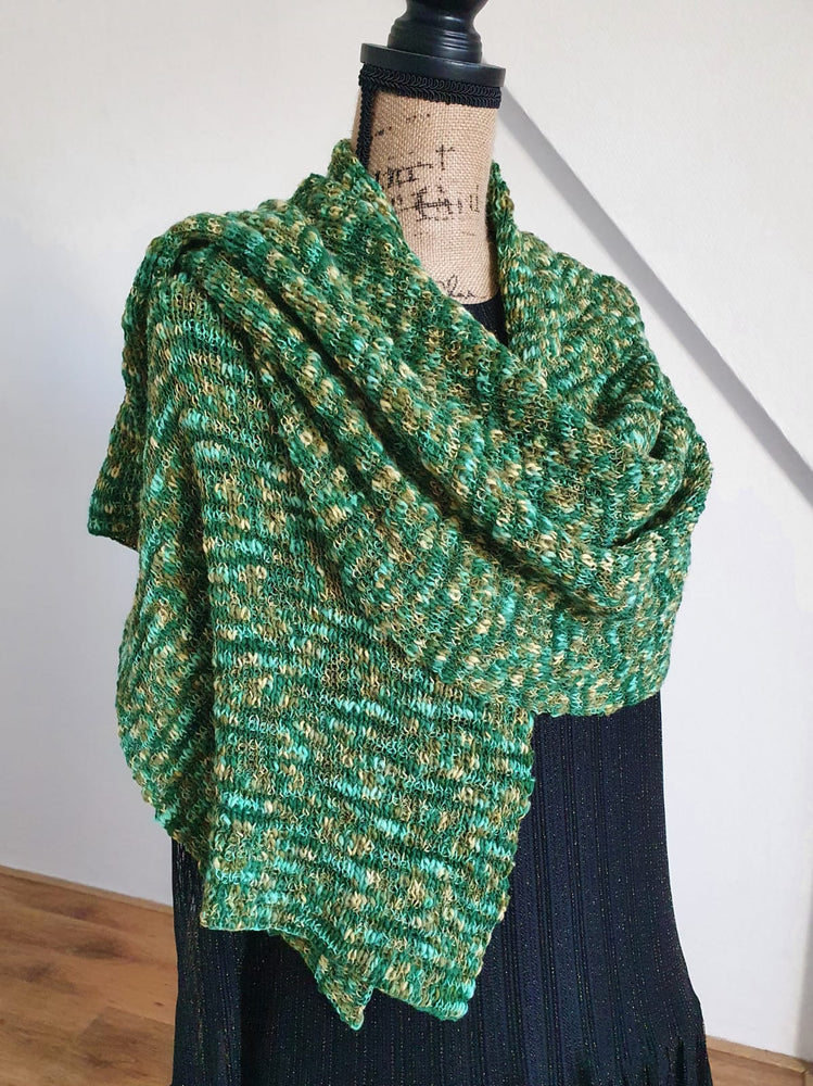 "Wrap/ Shawl ""Summer"". Melange fancy yarn"