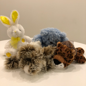 Ensemble de 4 animaux en peluche