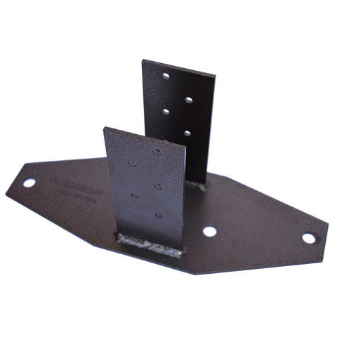 CTL 4 x 4 inch Fence Post Base / Bracket - 6 Gauge Powder Coated Steel
