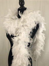 Load image into Gallery viewer, white feather boa