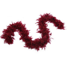 Load image into Gallery viewer, red velvet feather boa