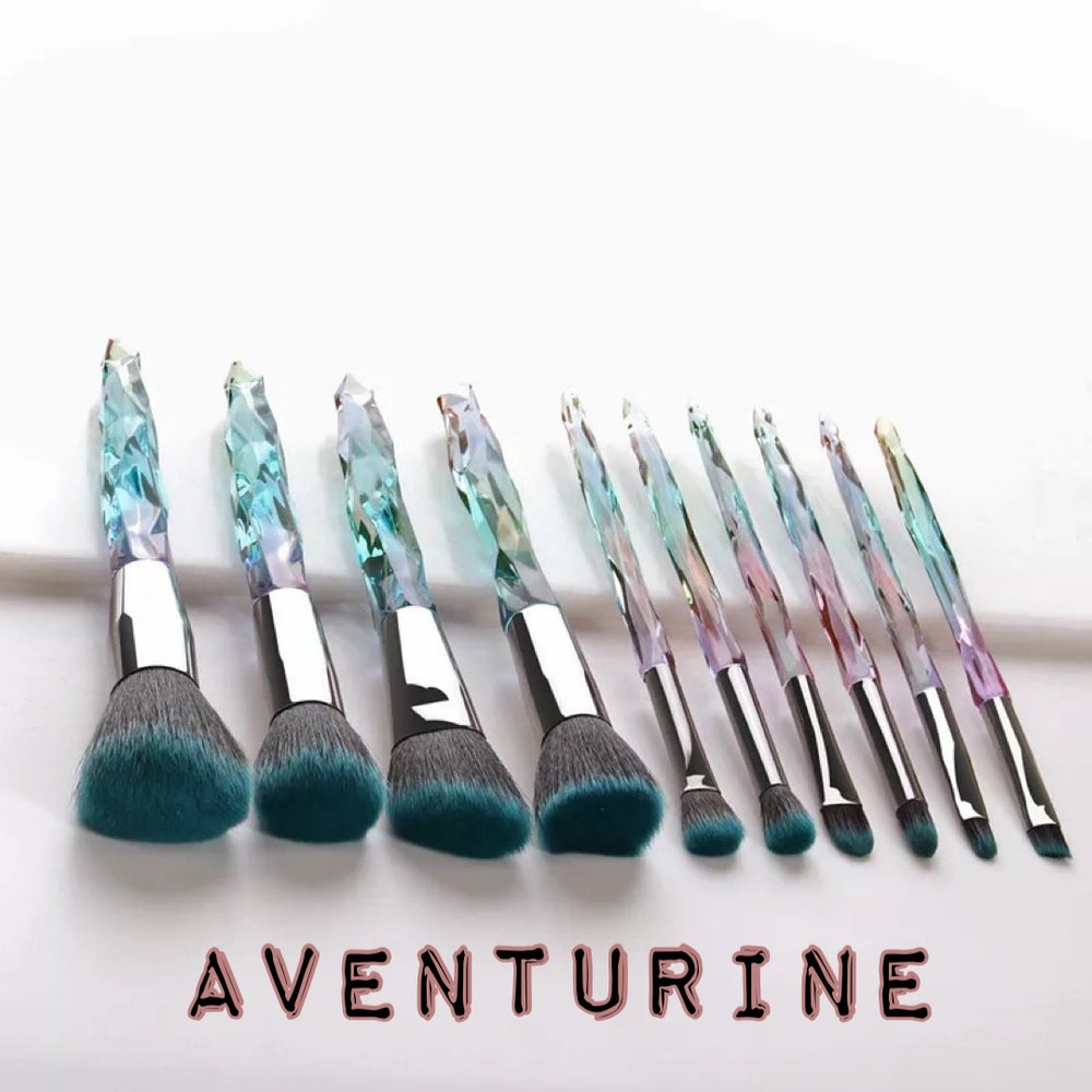Aventurine Brush Set