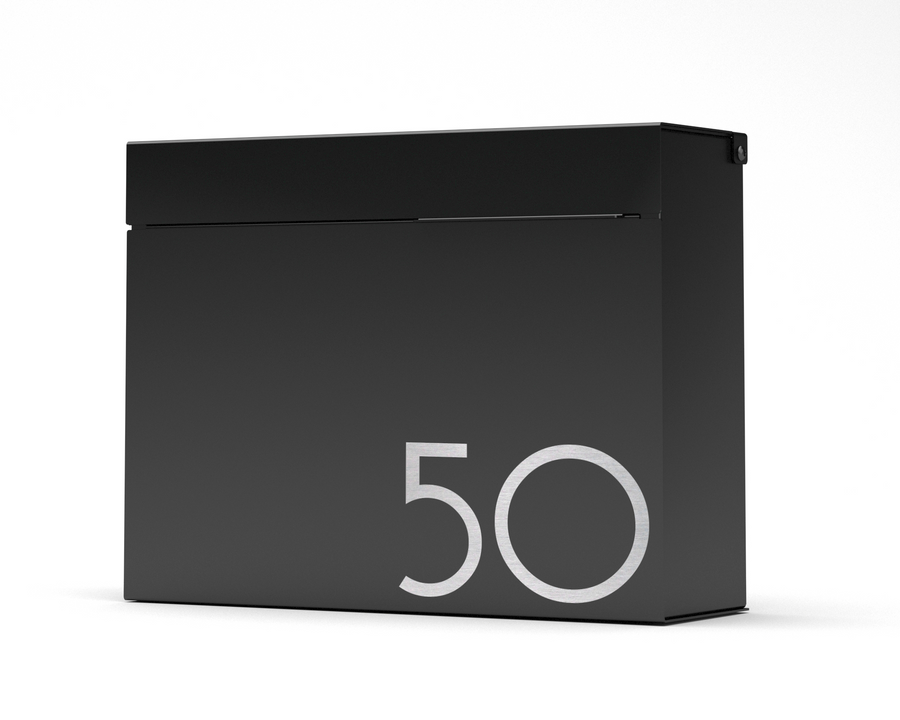 MITCH modern mailbox vsons design#color_black