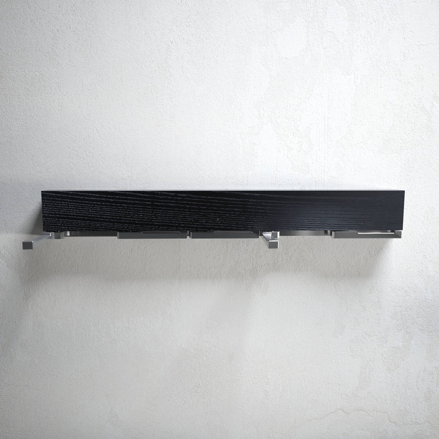 Oliver - black ash modern wall mounted coat rack