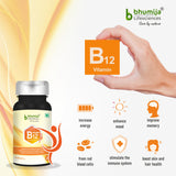 Bhumija Lifesciences Vitamin B12 1500 mcg with Folic Acid and Methylcobalamin Supplements 60 Chewable Tablet