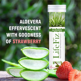Bhumija Lifesciences Lifefiz Aloe Vera Vegetarian 20 Effervescent Tablets With Strawberry Flavour