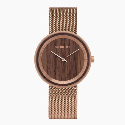 The ROSE - VEJRHØJ wood watches