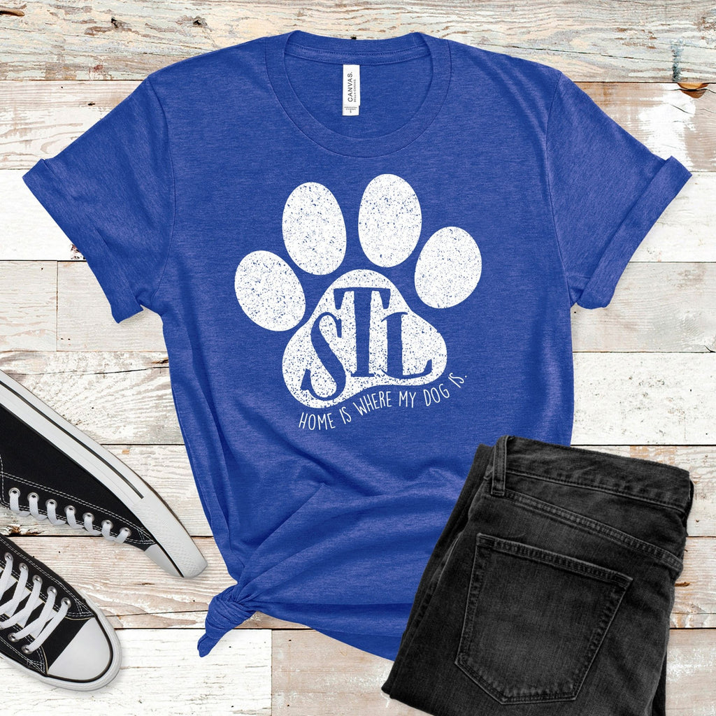 St. Louis White Paw Royal T-Shirt
