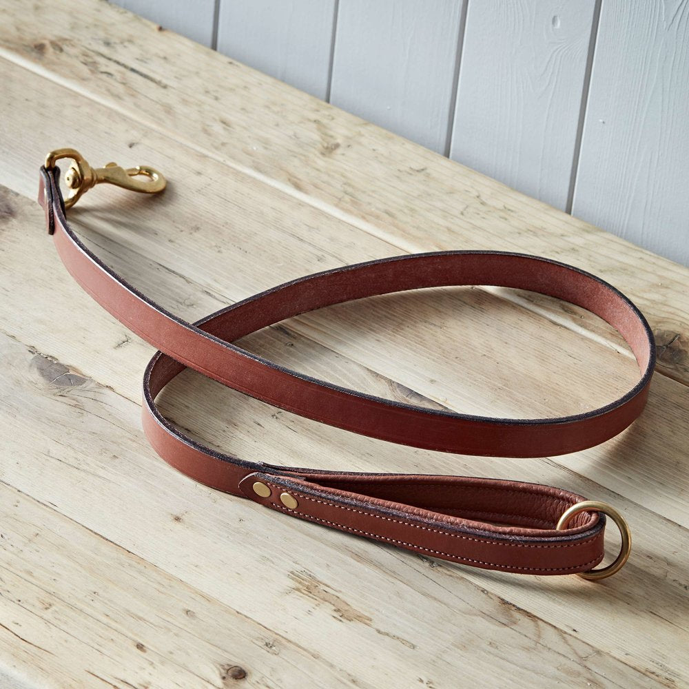Beech Padded Leather Dog Lead