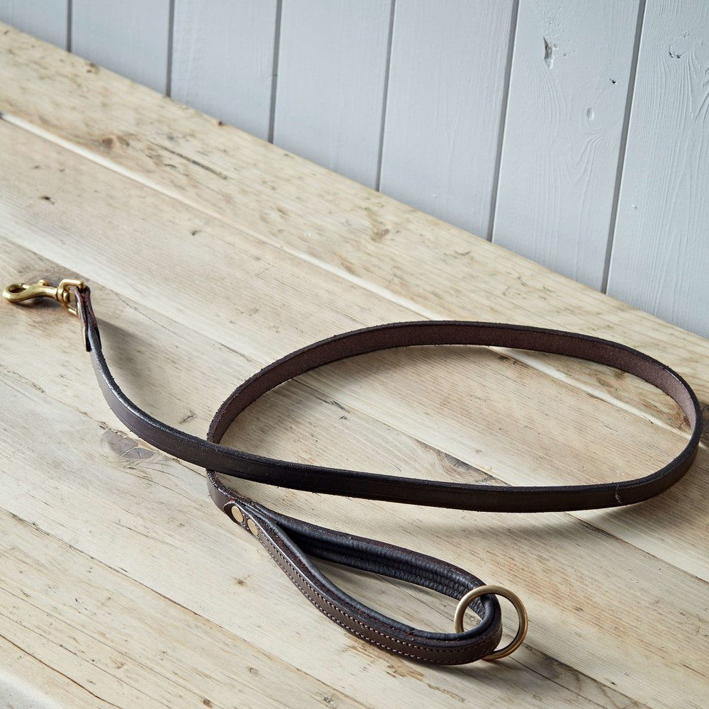 Brown Padded Leather Dog Lead