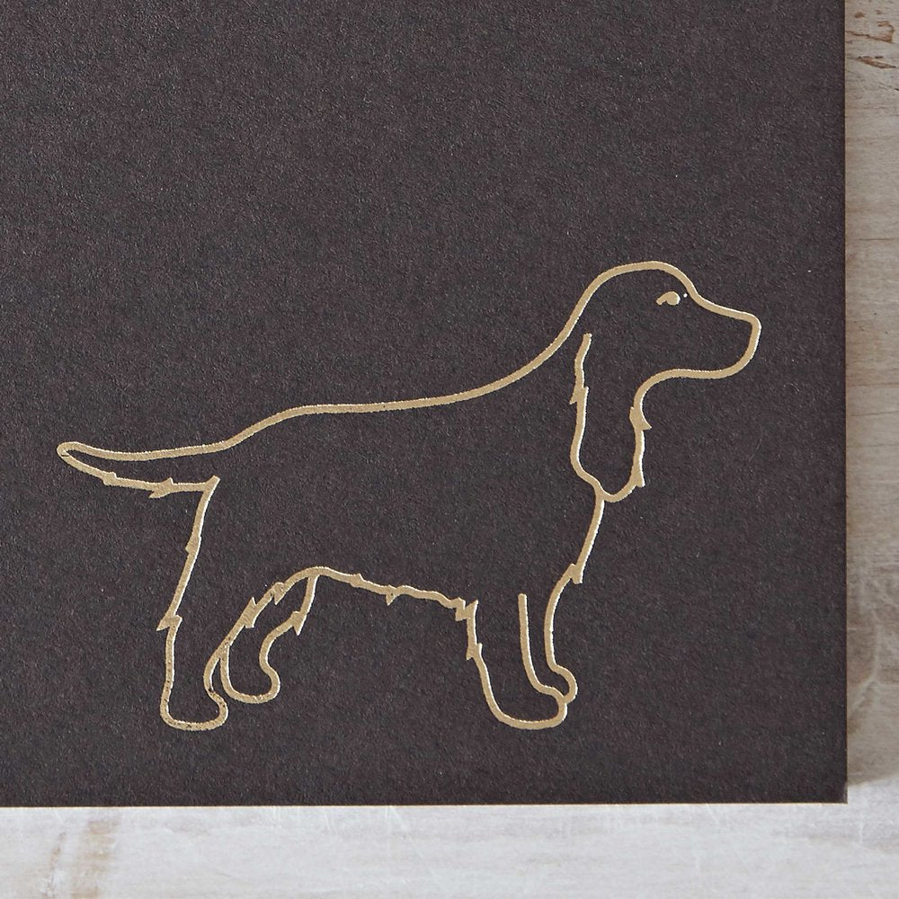 Cocker Spaniel Notebook Detail
