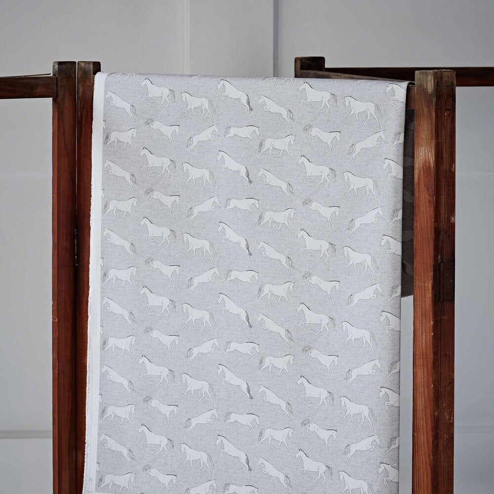 Eventing Horse Beige Cotton  Fabric