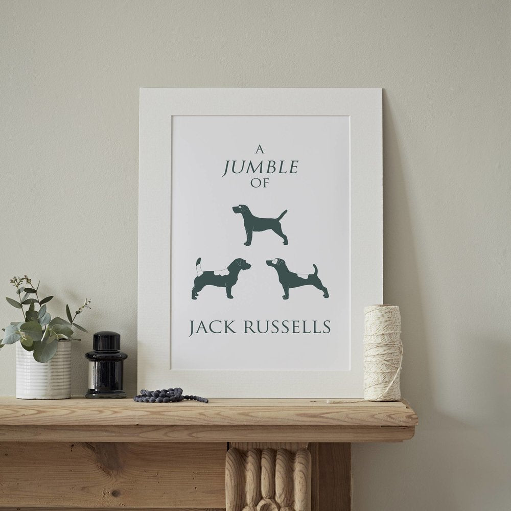 Jack Russell Terrier Mounted Art Print